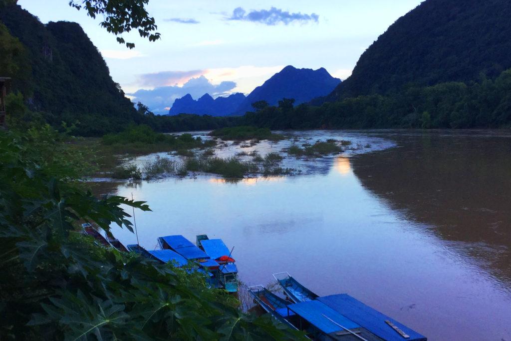 Muang Ngoi Laos Sunset