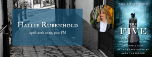 Hallie Rubenhold Book Signing @ The Five