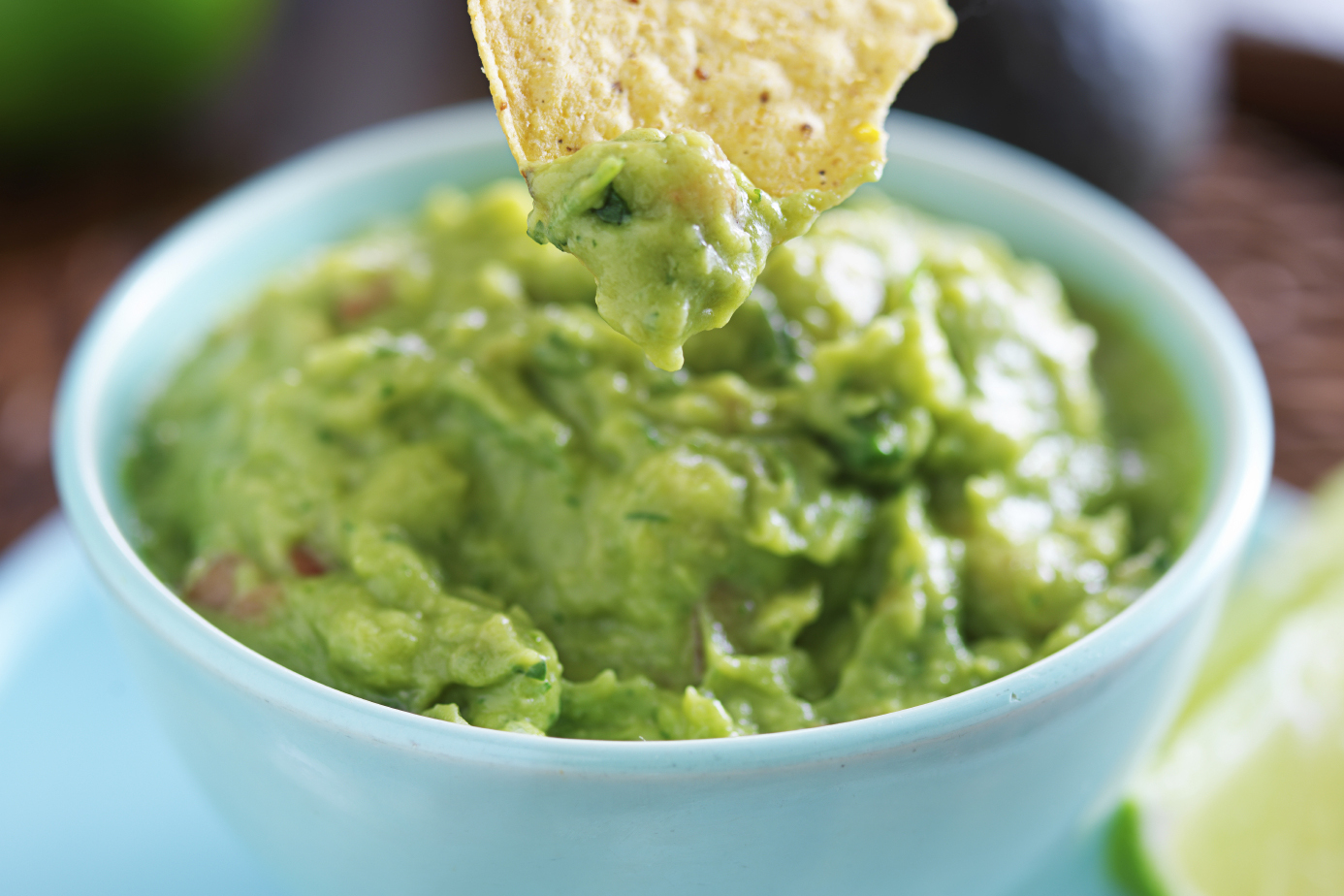 Salsa and Black Bean Guacamole Dip with Baked Lentil Chips