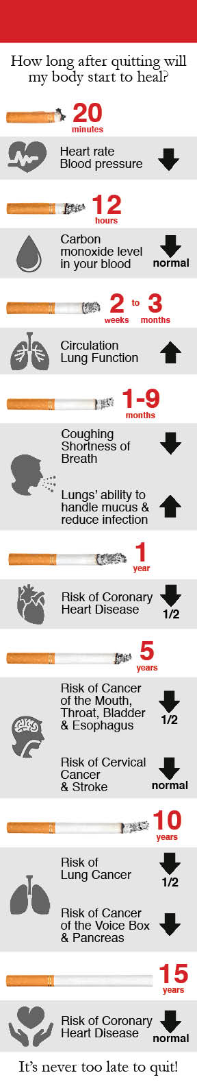 How Long After Quitting Smoking Infographic