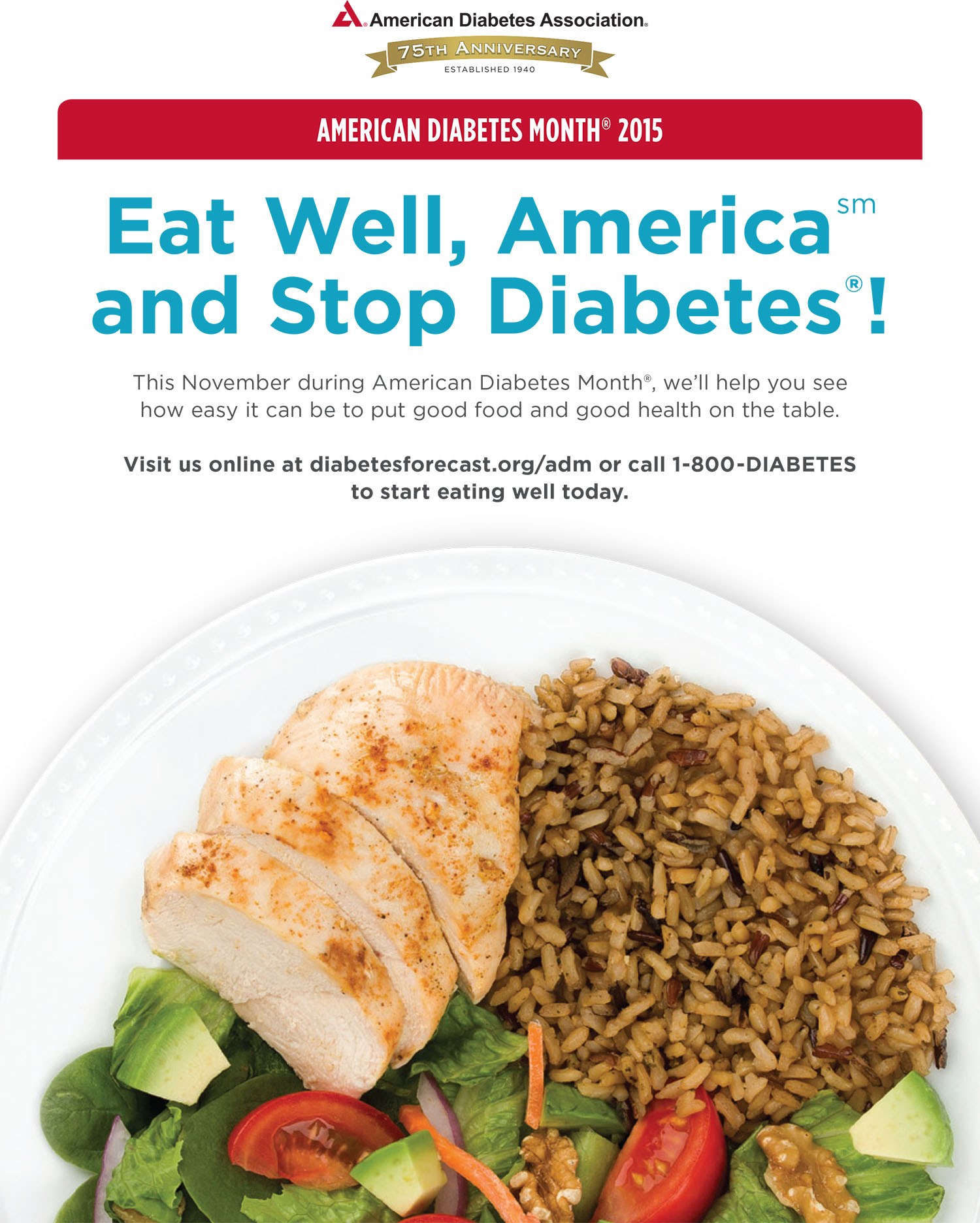Eat Well, America and Stop Diabetes!