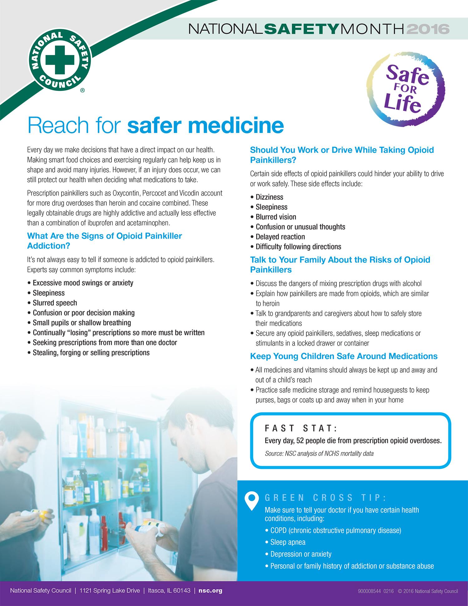 Reach for safer medicine