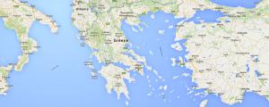 Catamaran Charter Greece main map