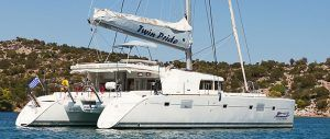 Lagoon 500 Luxury Crewed Catamaran Charter Greece