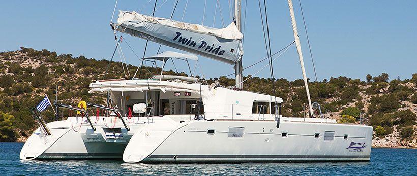 Lagoon 500 Luxury Crewed Catamaran Charter Greece