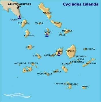 Cyclades islands Catamaran Charter Greece