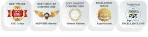 Best company catamaran charter Greece
