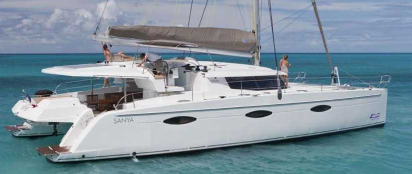 Sanya 57 Catamaran Charter Greece Main