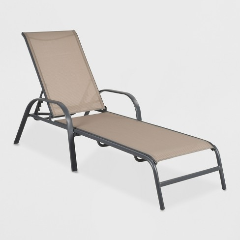 Kairos Wholesale & Small lot (2items) - Stack Sling Patio Chaise Lounge Chair Tan - Retail Value - $159