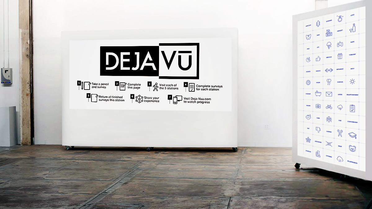 Print Media Installation Emotion Recognition Deja Vu