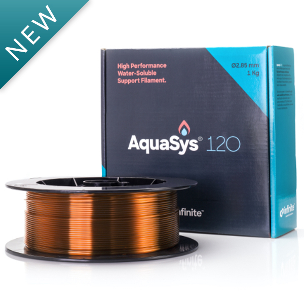 AquaSys 120 High-Performance Water-Soluble Support Filament for 3D Printing
