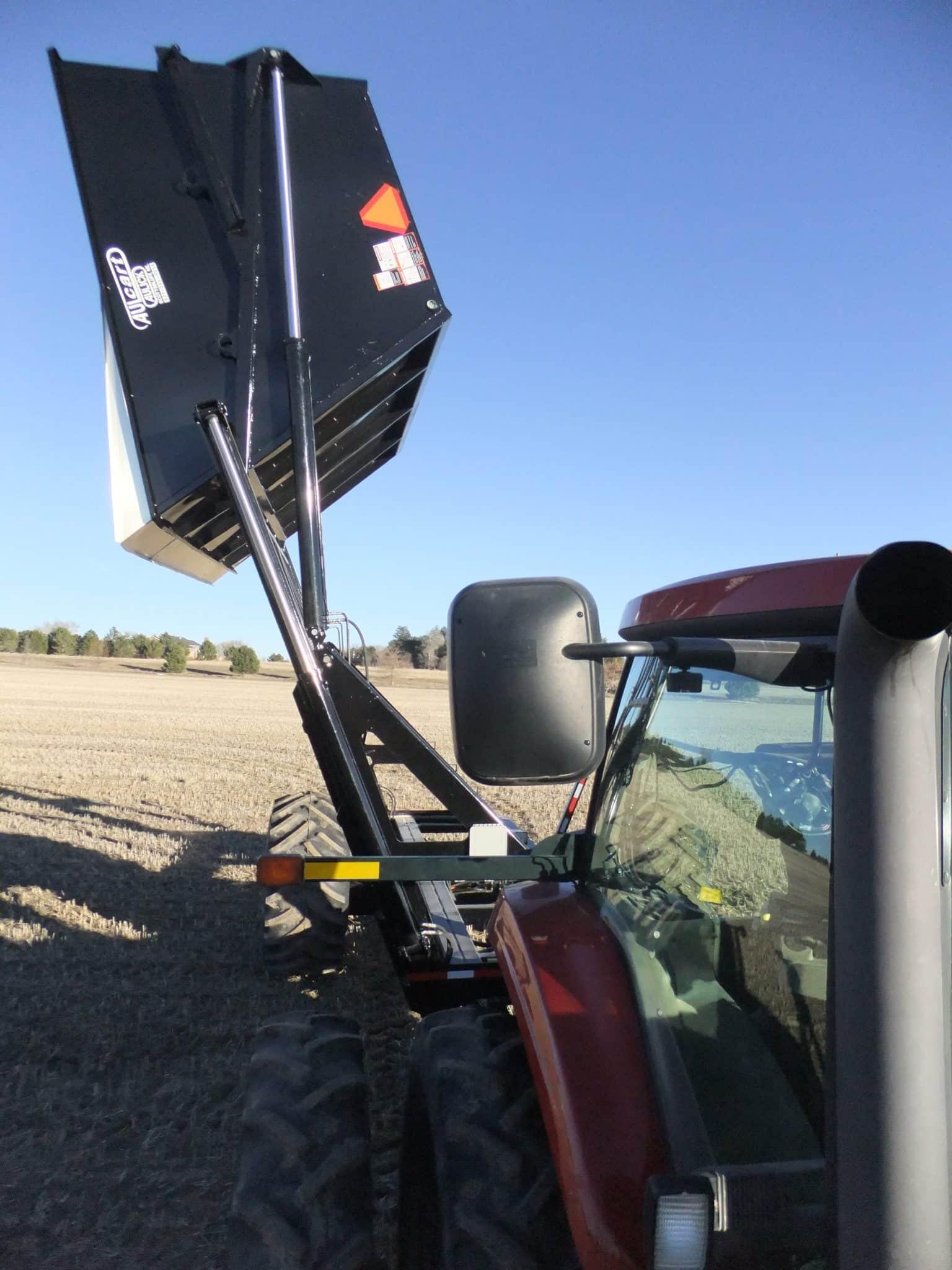 High Lift Farm Tractor Dump Cart