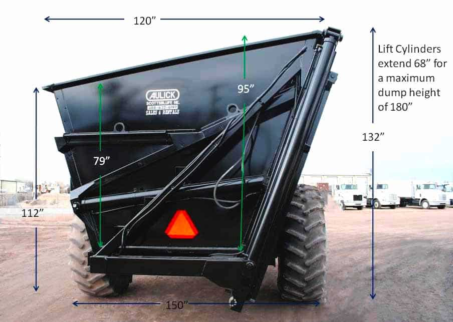 Aulick Industries Dump Cart Details