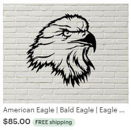 Aulick ETSY American Eagle | Bald Eagle | Eagle Steel | Nebraska Wildlife | Steel Wall Art | Metal Wall Art | Steel Eagle