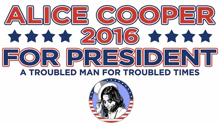 Alice Cooper para Presidente y Primer Ministro