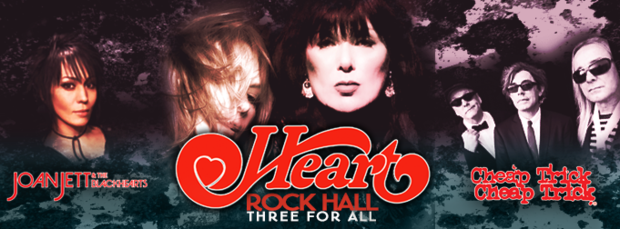Arrancó el tour Rock Hall Three For All con Heart , Joan Jett & The Blackhearts y Cheap Trick