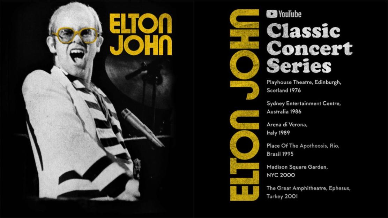 Elton John estrena una serie de conciertos en Youtube