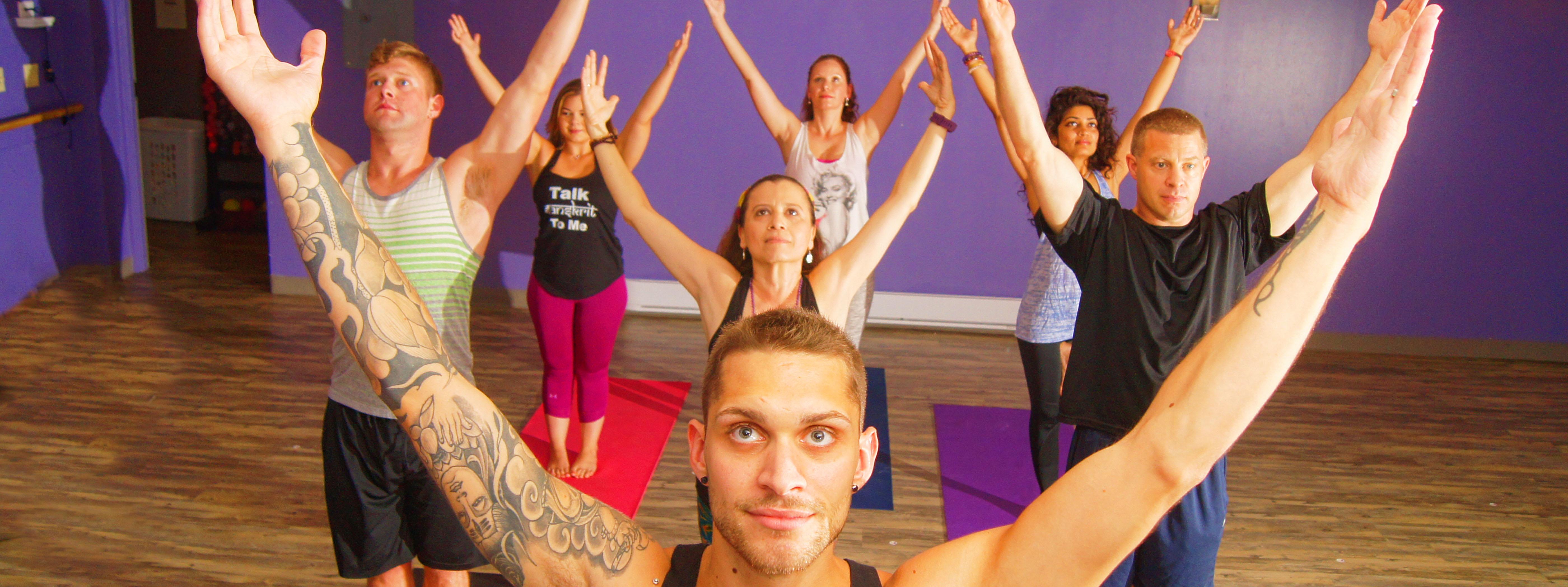 Aaron Styles Teaching Yoga