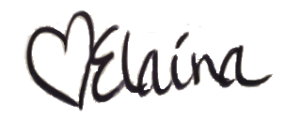 elaina's signature