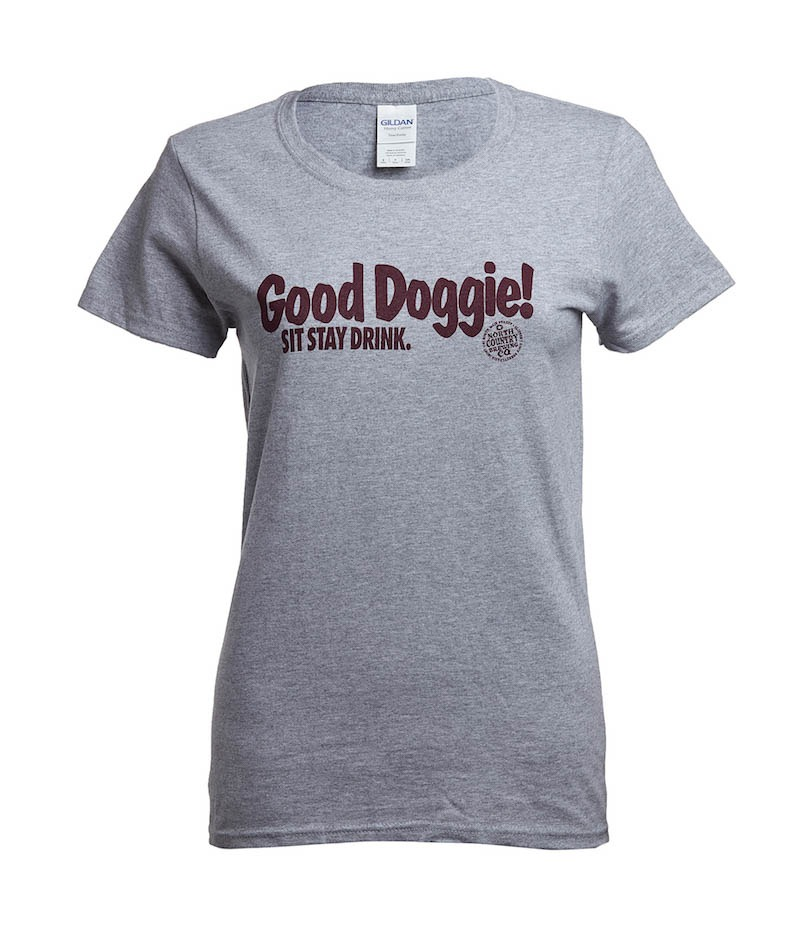 Woman's Good Doggie T-shirt Short Sleeve Colors Will Vary