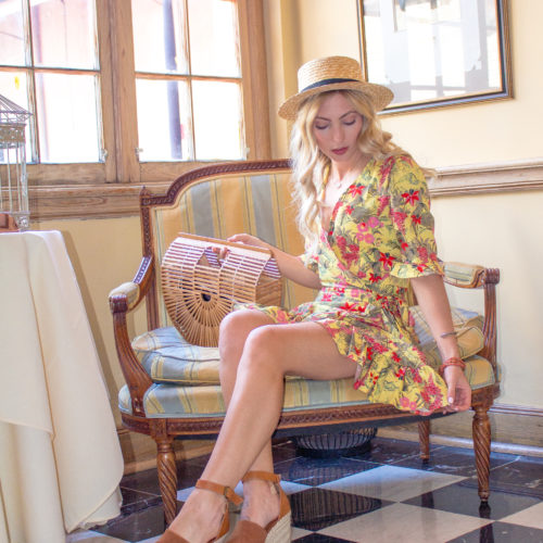 VINTAGE FLORAL DRESS AT NAPOLEON HOUSE