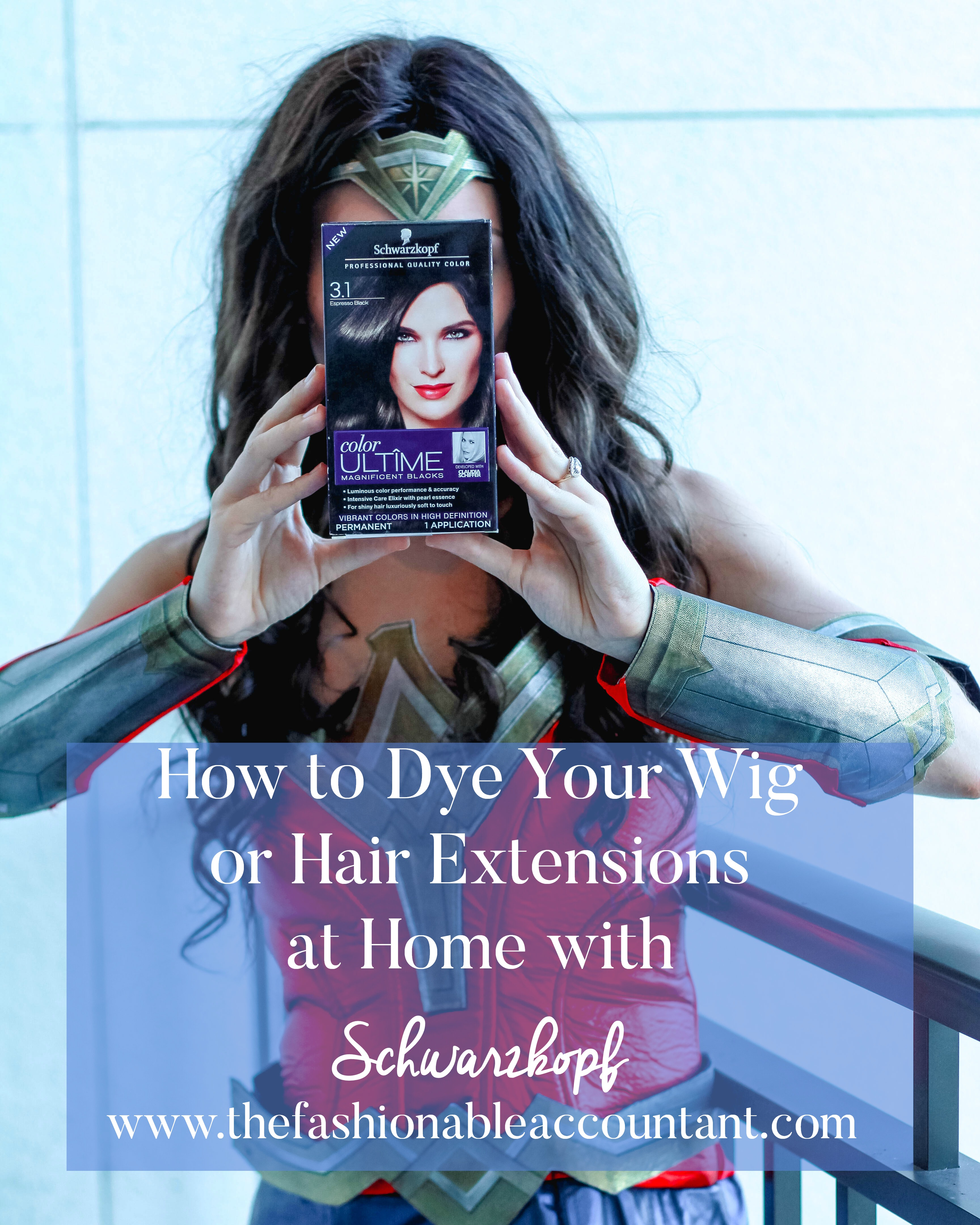 DYE YOUR WIG AND HAIR EXTENSIONS AT HOME