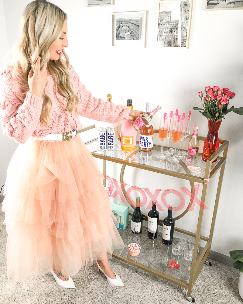 GALENTINE'S BAR CART AND CHAMPAGNE COCKTAIL