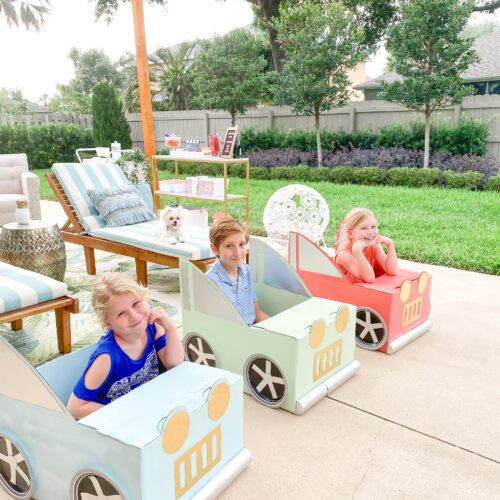 DIY CARDBOARD BOX CARS (WITH FREE PRINTABLE)