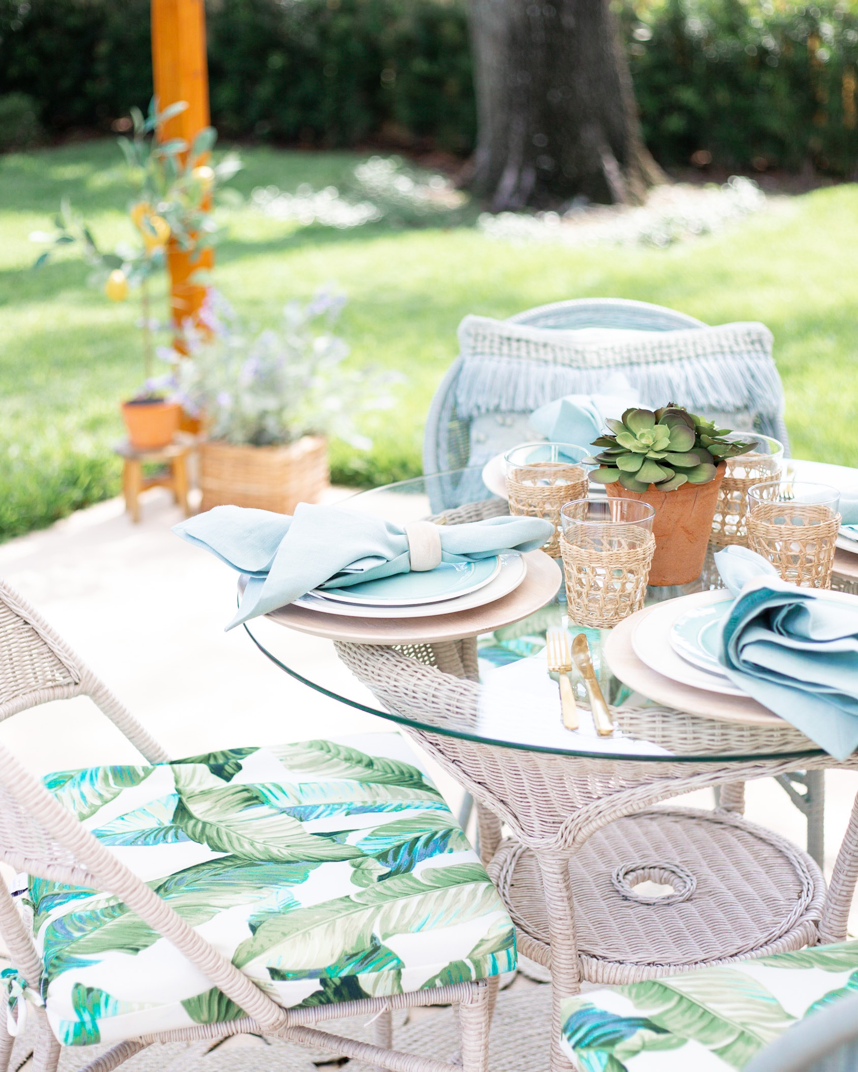 AFFORDABLE PALM BEACH STYLED PATIO