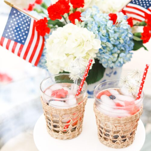 RED, WHITE, AND BLUE WINE SPRITZER
