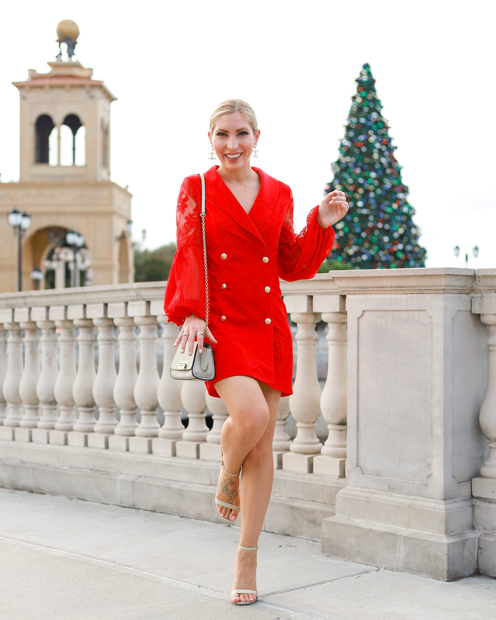 AFFORDABLE HOLIDAY STYLE RED BLAZER DRESS