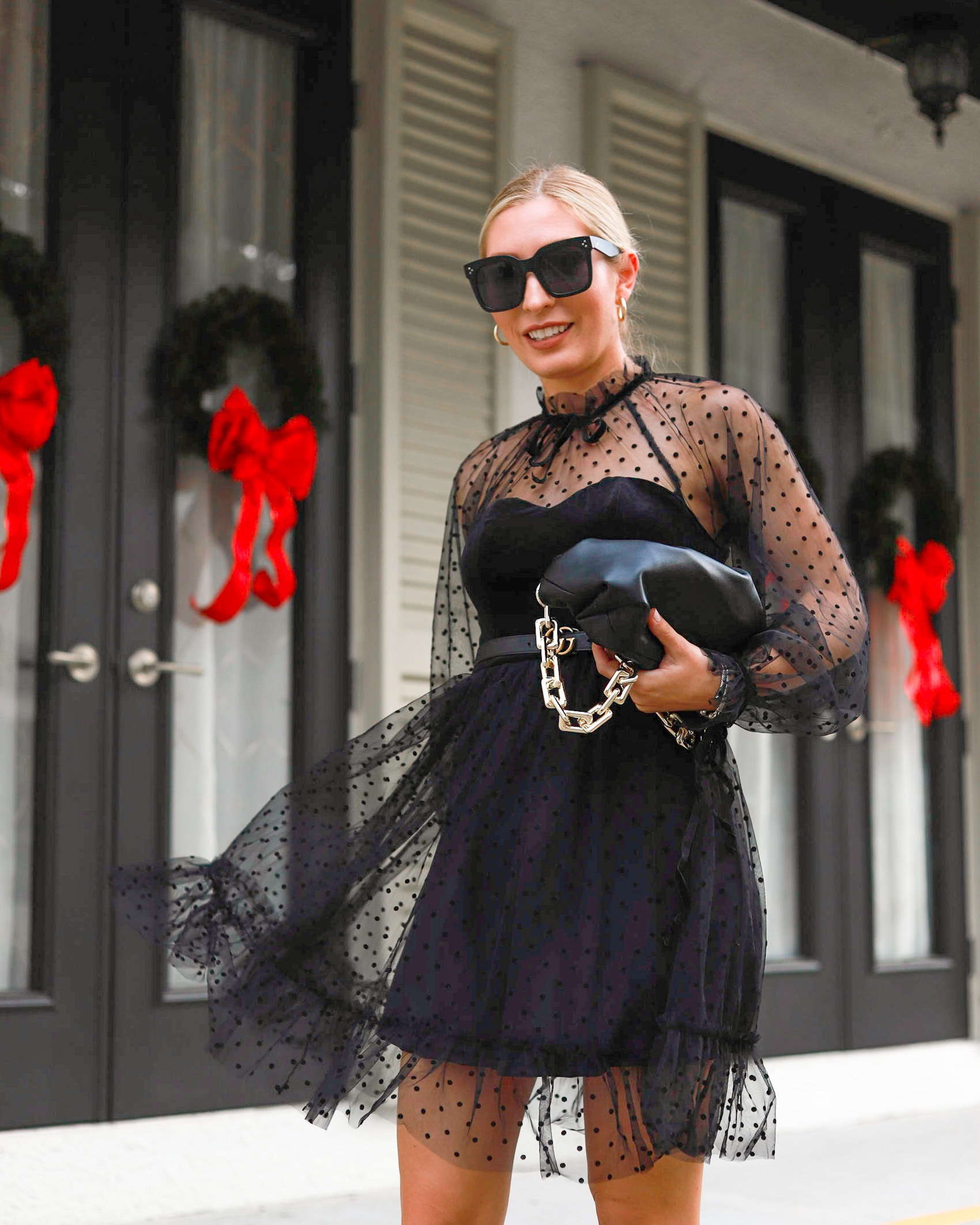 AFFORDABLE HOLIDAY STYLE BLACK TULLE DRESS