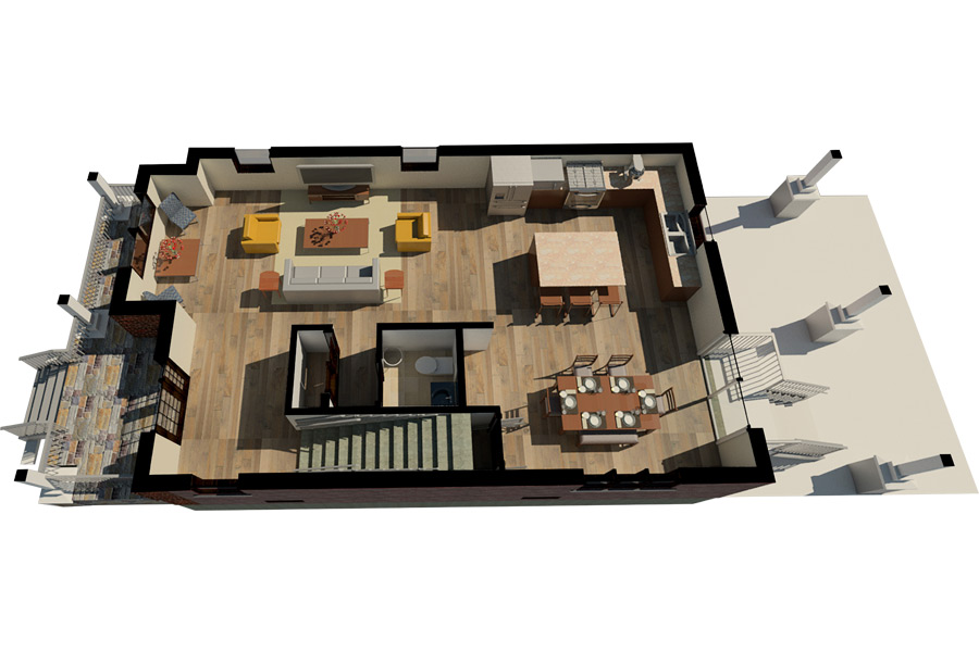 Evergreen Park First Floor Lay Out