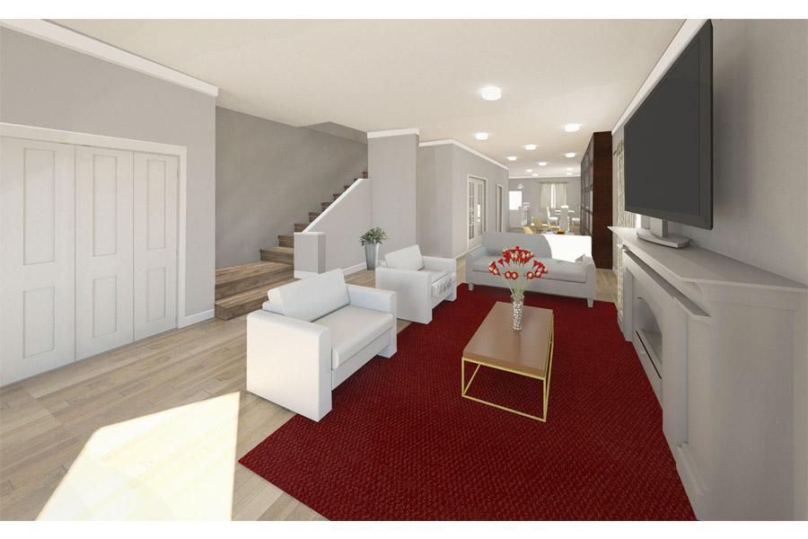 Chicago Remodel Living Room