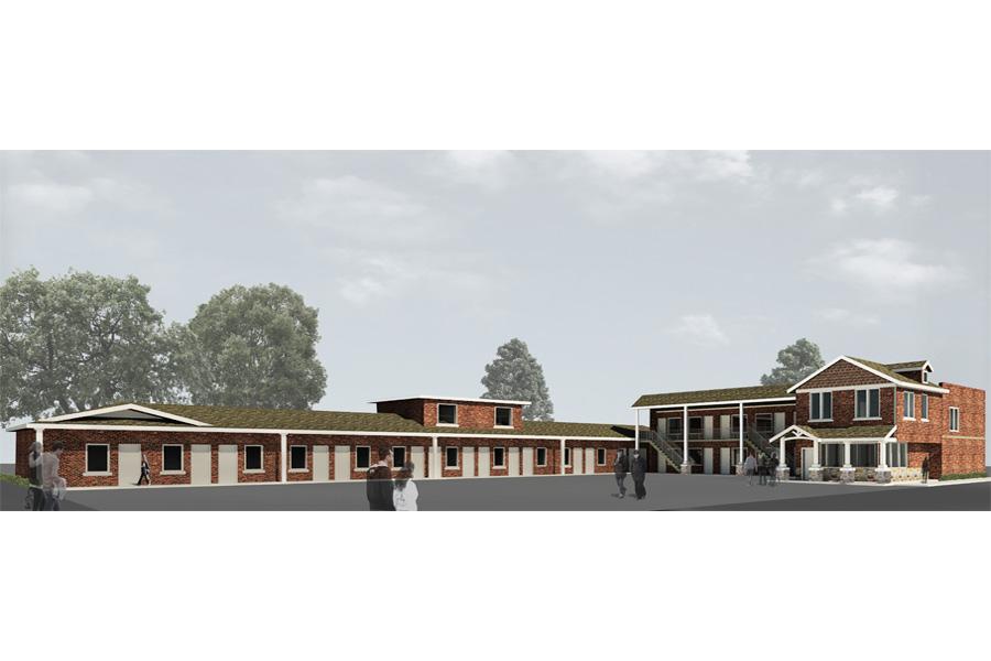 Gateway Inn Remodel Full Property Perspective