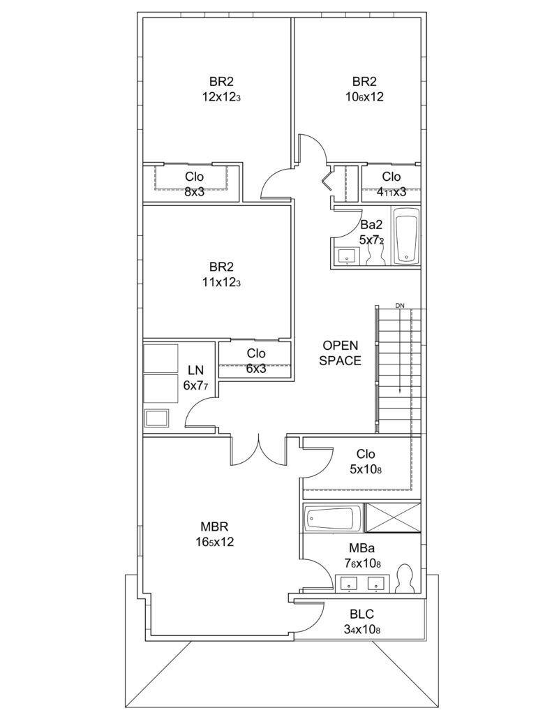 2D Floor Plan of One of Our Previously Completed Projects