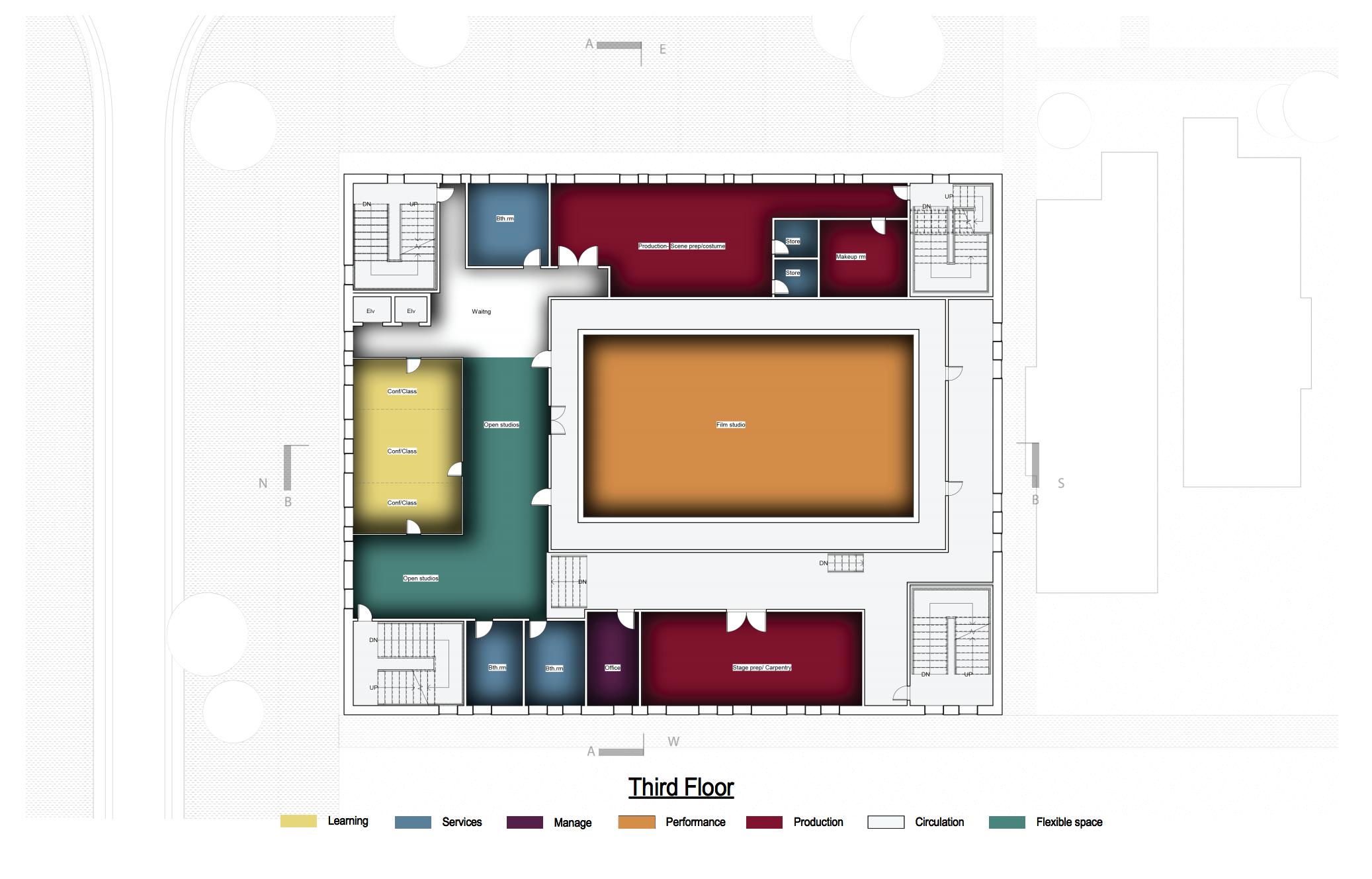 Site plan floor 3