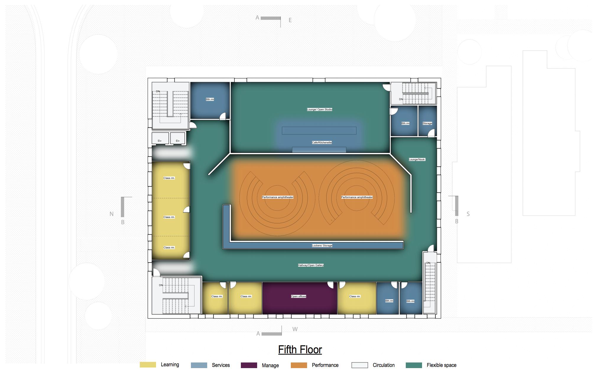 Site plan floor 5