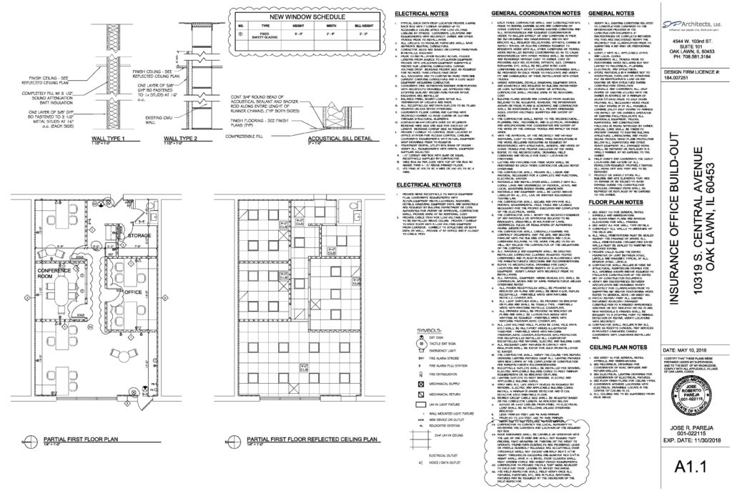 This is an example of the construction documents we provide for our clients and the village