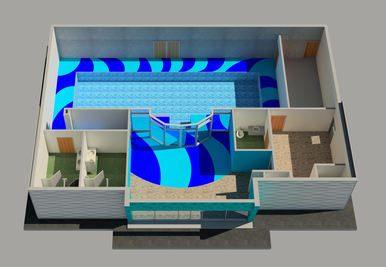 Interior Pool Rehabilitation Center Rendering