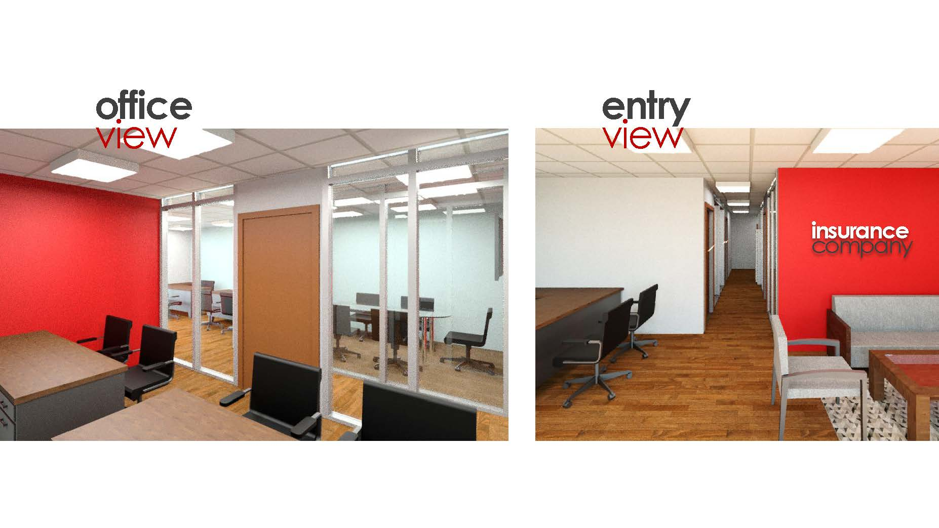 This is the inside of the office remodel we completed for a Insurance Agent