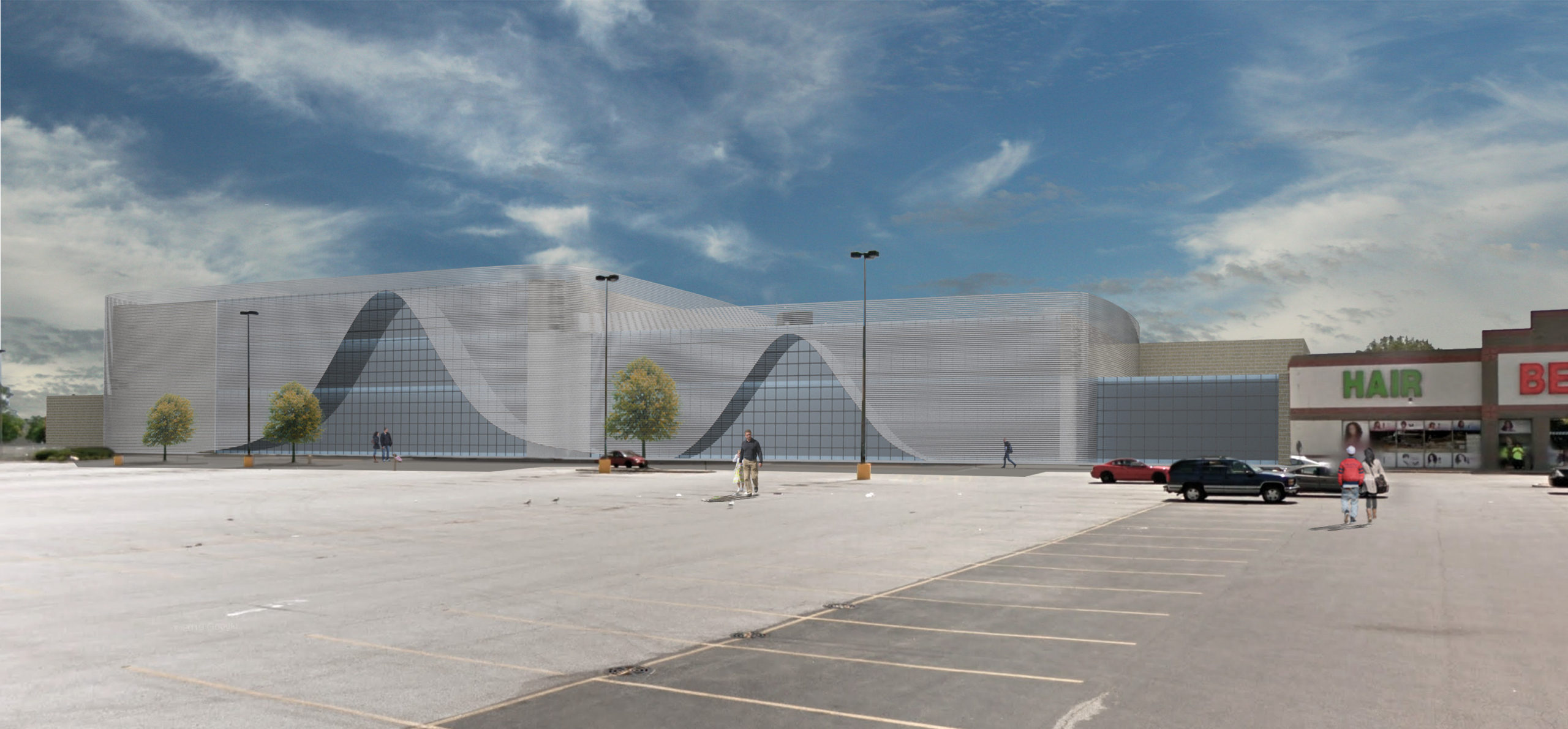 3D Rendering for Client Redevelopment of Big Box Store