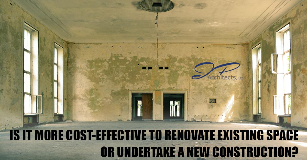 This is the title image this blog about whether it is cheaper to renovate or build a new building for your business