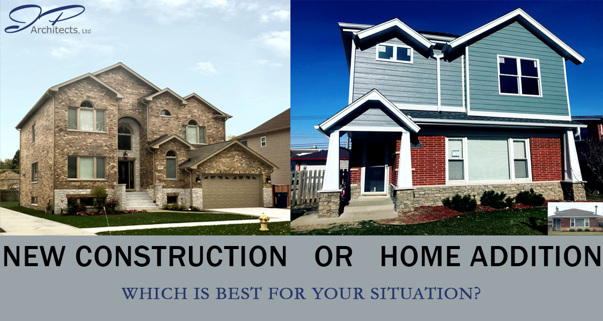 This is shows a New Construction home and addition which relates to the entire blog about which option is best for you