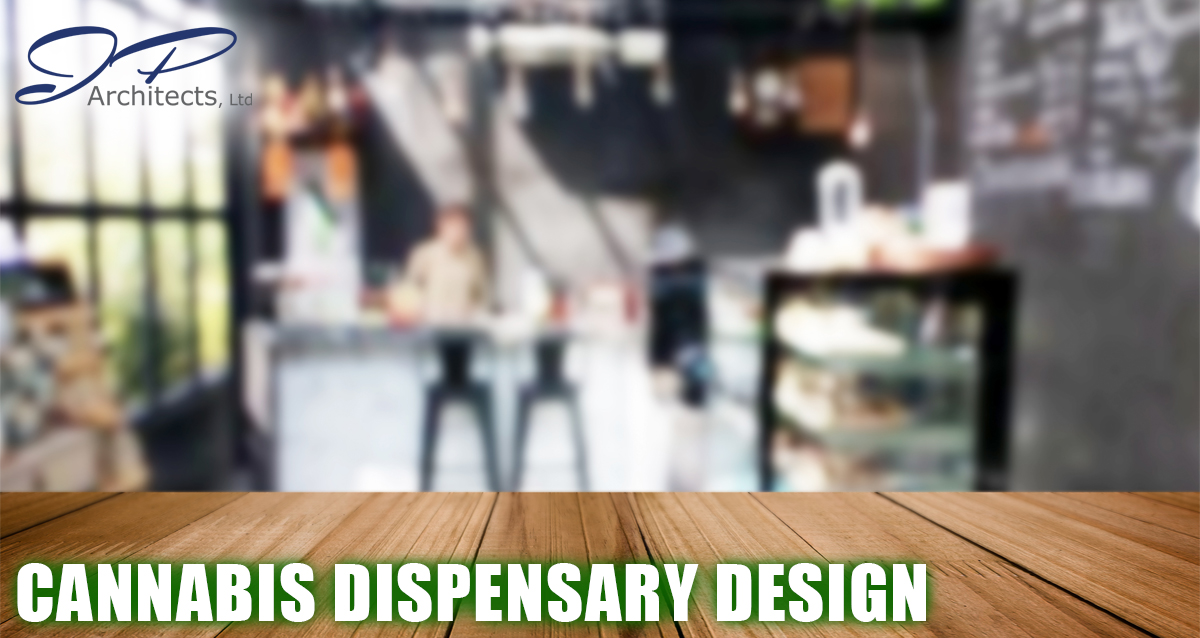 This is the cover image for our blog on Cannabis Dispensary Design. It shows a modern looking facility that could be a dispensary.