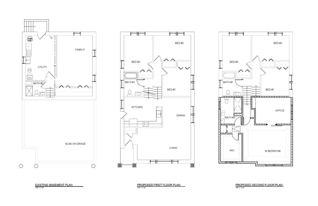 This is an image of the Final Floor Plans our client's split-level addition
