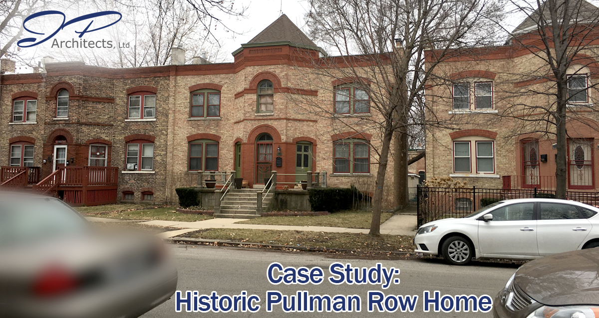 This is an image of the exterior of the Pullman Row Home we worked on
