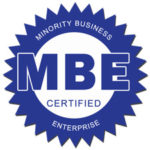 This is an image that shows we, JP Architects, Ltd., are MBE certified in the State of Illinois and Cook County