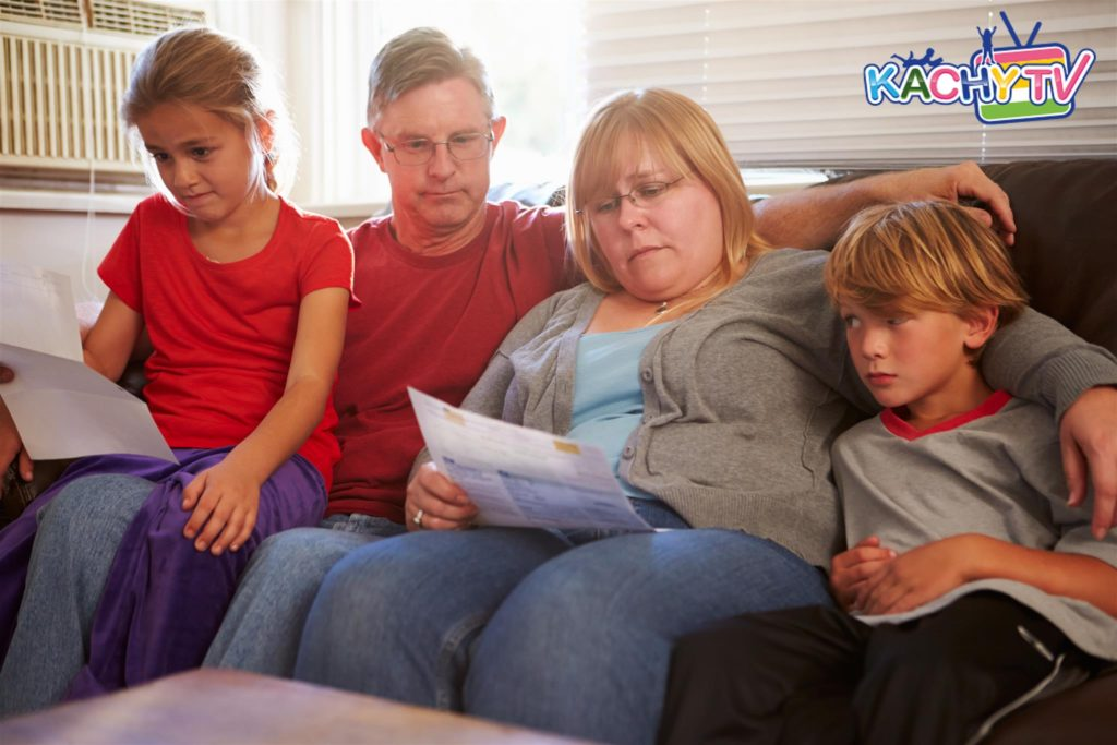 How a family can deal with difficult times