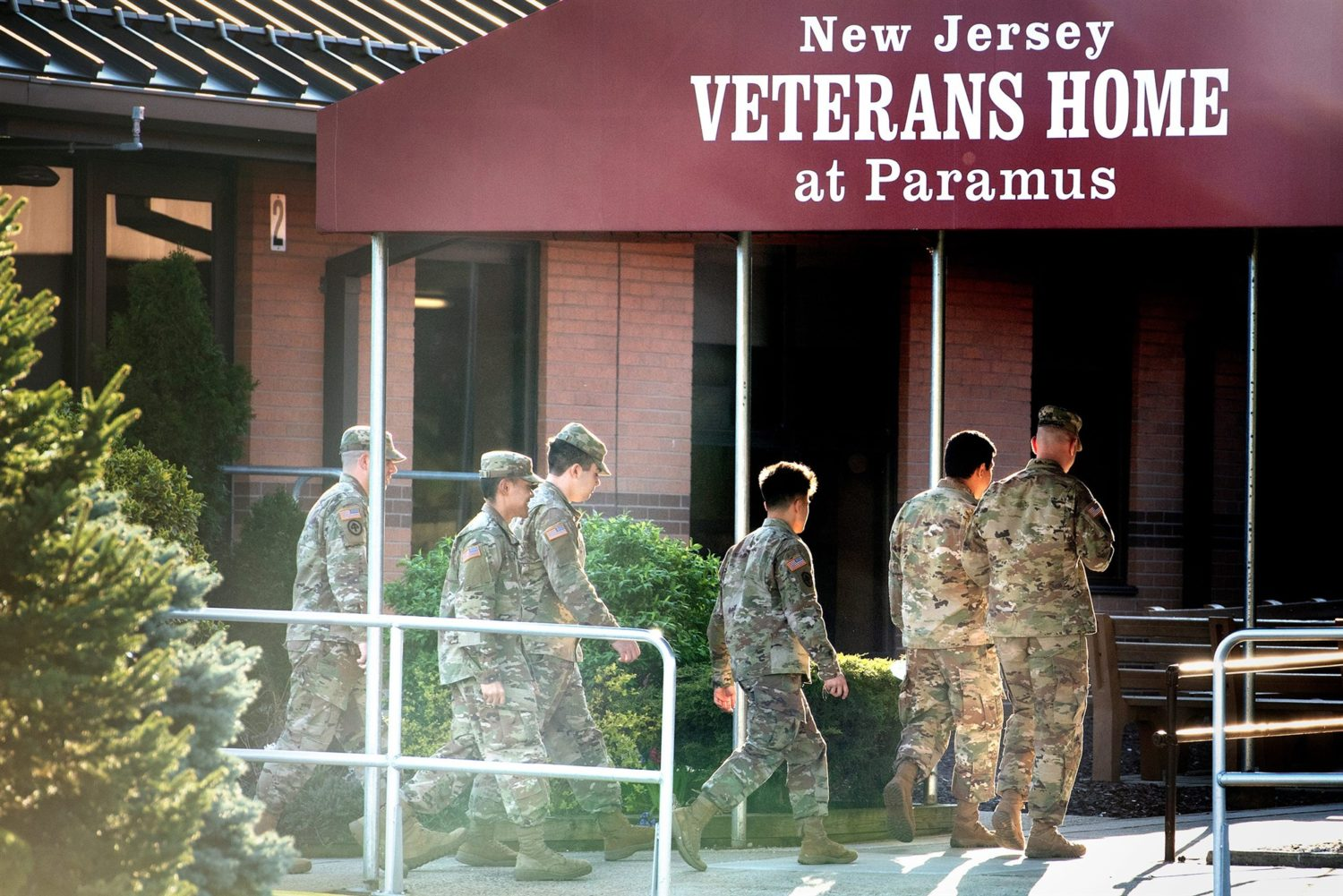 The New Jersey Veterans Home in Paramus on Wednesday, April 8, 2020